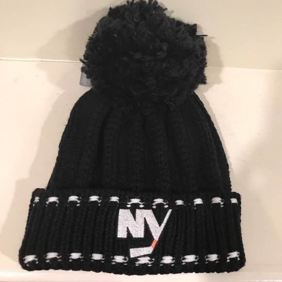 NHL NY Islanders winter Pom Pom hat 0f43c5a7012